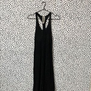 Free People Charcoal Gray Ribbed Maxi Dress